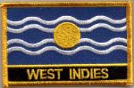 West Indies Embroidered Flag Patch, style 09.